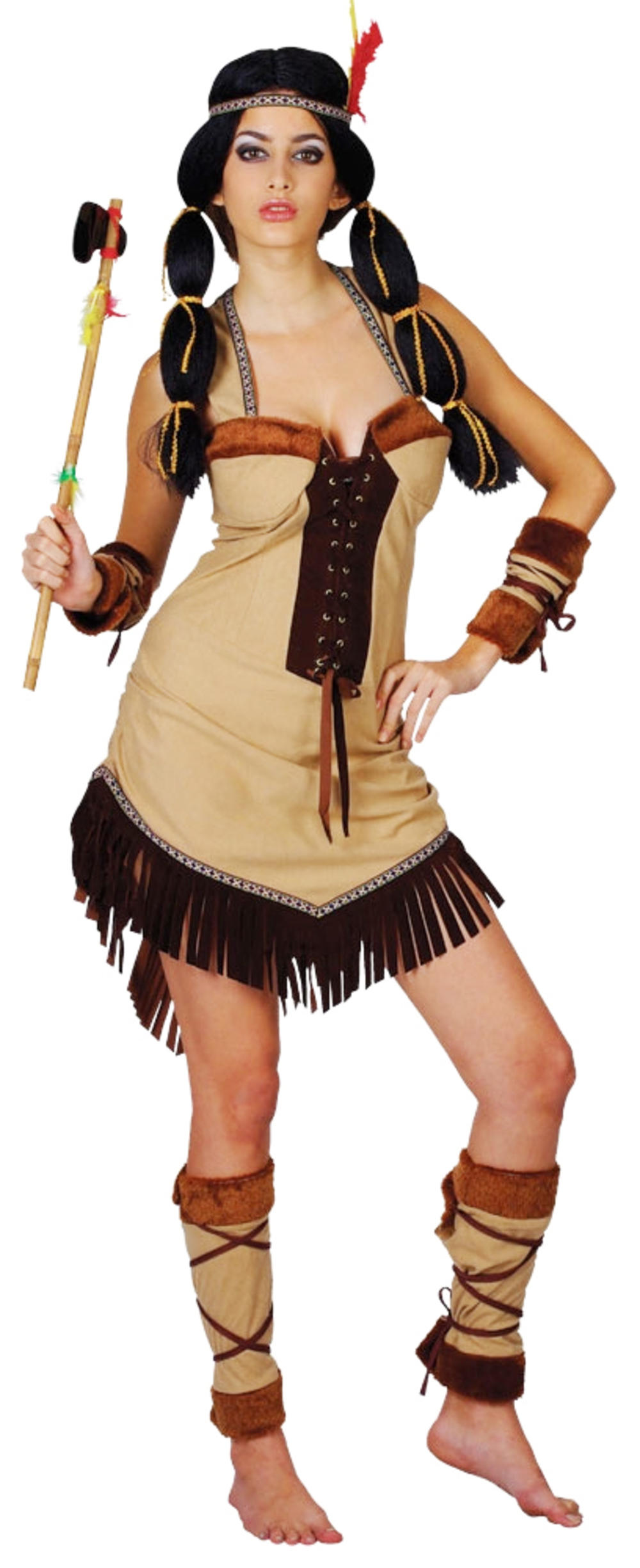 Indian Princess Ladies Fancy Dress Native American Pocahontas Adults Costume