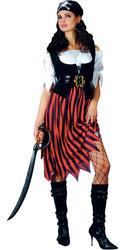 High Seas Pirate Lady Fancy Dress Buccaneer Ladies Caribbean Womens Costume New