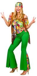 60s Groovy Hippie Ladies Fancy Dress 1960s 70s Retro Hippy Womens Adults Costume