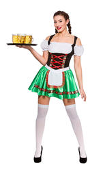 Bavarian Beer Maid Ladies Fancy Dress German Festival Oktoberfest Adults Costume