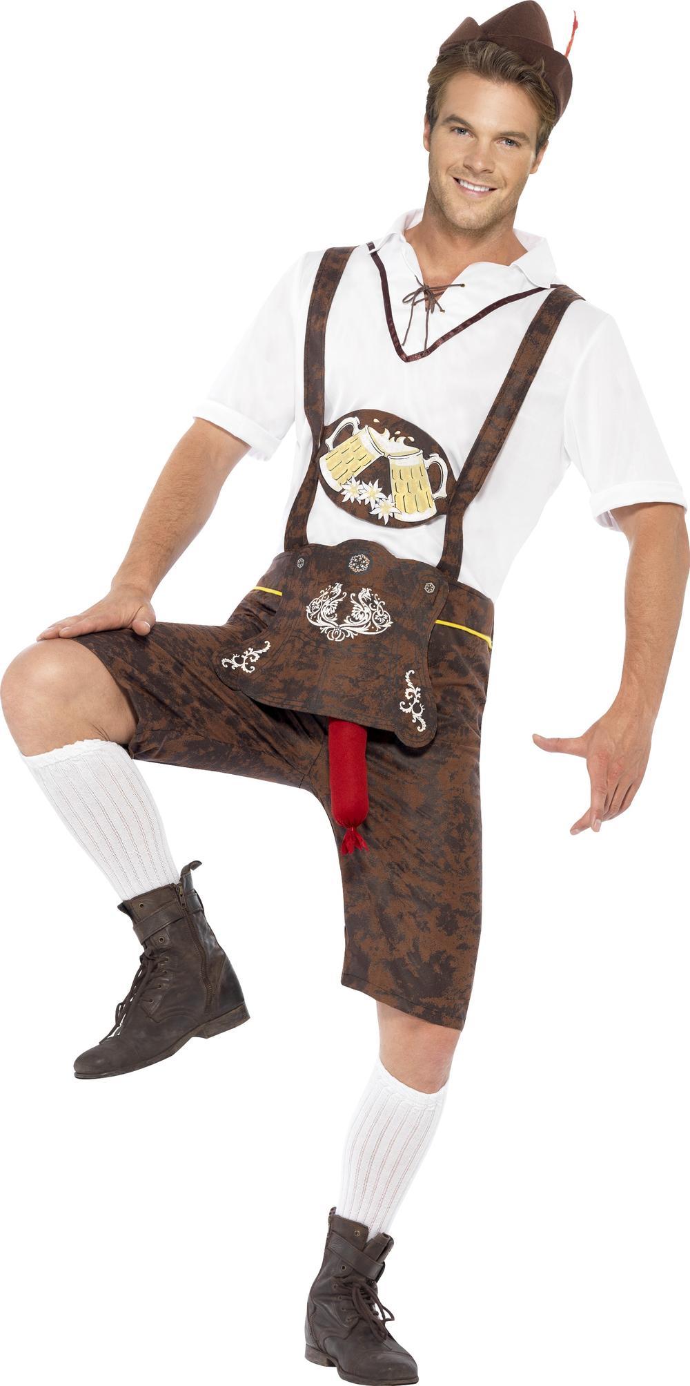 Brad Wurst Oktoberfest Mens Fancy Dress Bavarian German Beer Adult Fun Costume