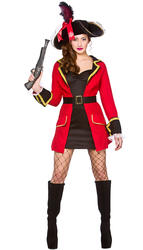 Blackheart Pirate Ladies Captain Buccaneer Seas Womens Adults Costume Outfit New
