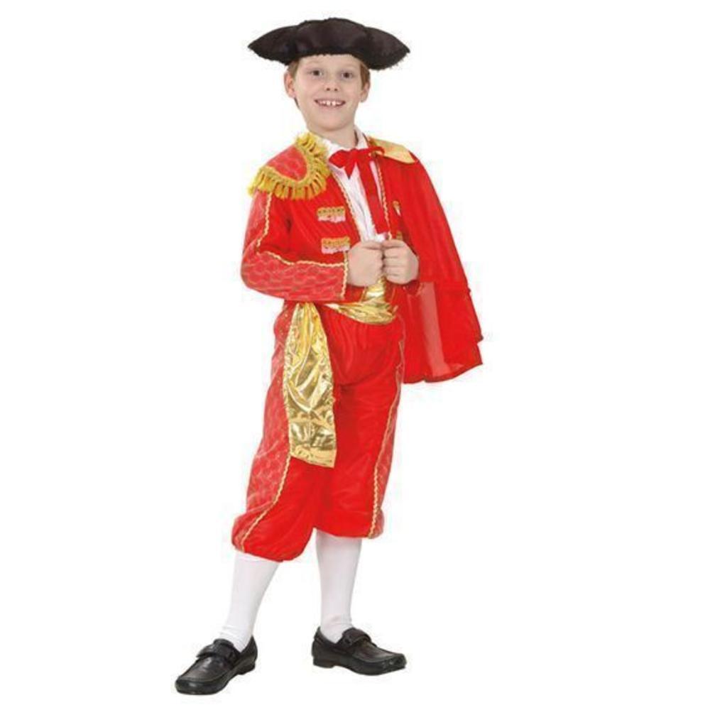 Spanish Matador Boys Fancy Dress National Bullfighter Uniform Kids Child Costume