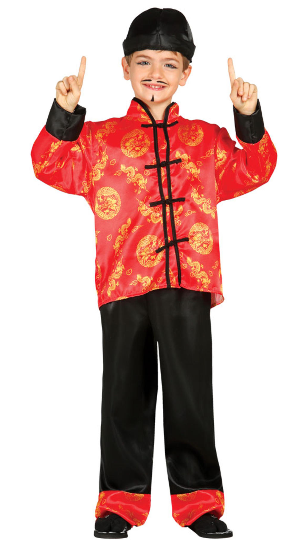 Oriental Boys Fancy Dress Traditional Chinese Qipao Kids Asian Costume Outfit