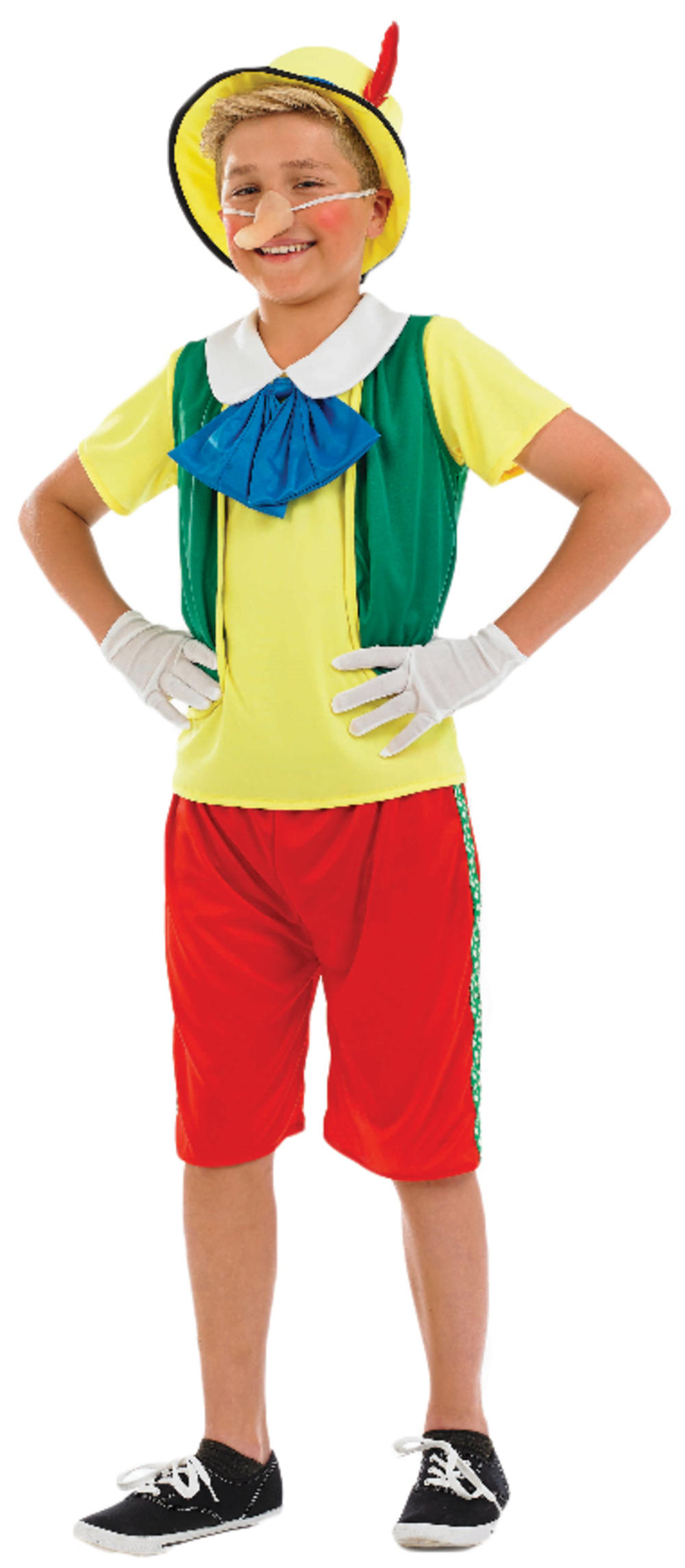 Pinocchio Fancy Dress Boys World Book Day Puppet Character Fairytale Costume New