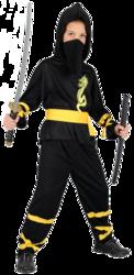 Dragon Ninja Boys Halloween Fancy Dress Kids Japanese Fighter Childrens Costume
