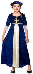Deluxe Tudor Royal Princess Girls Fancy Dress Up Medieval Kids Childs Costume