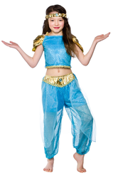 Arabian Nights Princess Girls Fancy Dress Fairy Tale Jasmine Kids Book Costume