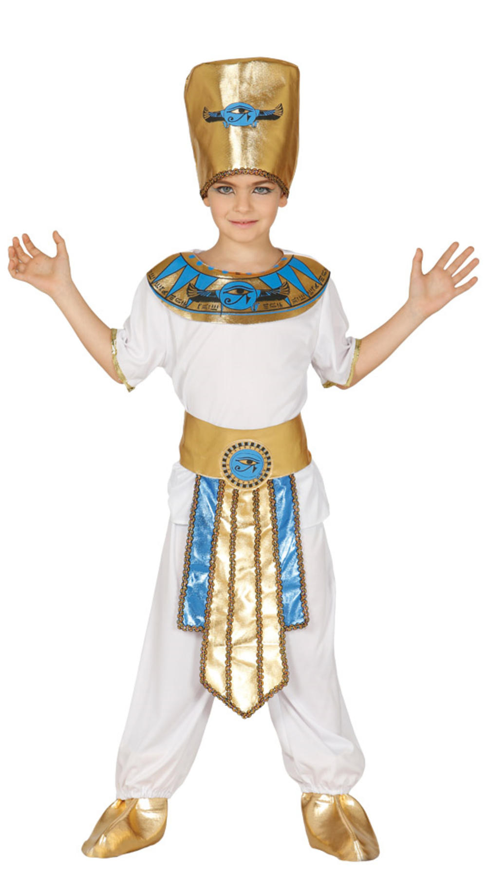 Pharoah Boys Fancy Dress Ancient Egyptian King Kids Historical Book Day Costume