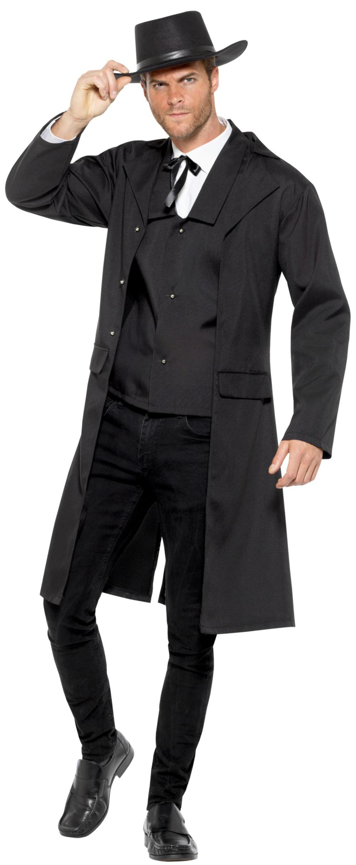 Bounty Hunter Mens Fancy Dress Wild Western Sheriff Gunslinger Adult Costume New