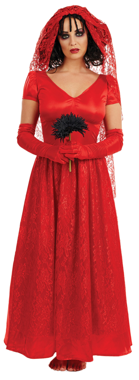 Blood Red Bride Women's Costume