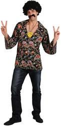 Cool Hippie Shirt 60s 70s Mens Retro Fancy Dress Adult Costume Hippy 1960s Shirt