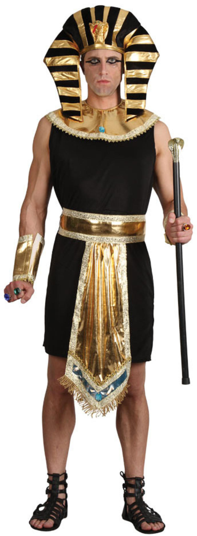 Egyptian Pharoah Mens Fancy Dress Ancient Egypt King Adults Historical Costume