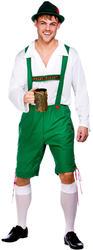 Oktoberfest Lederhosen + Hat Fancy Dress Mens German Beer Man Bavarian Costume