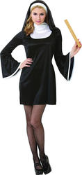 Deluxe Blessed Babe Nun Fancy Dress Tarts & Saints Religious Uniform Costume