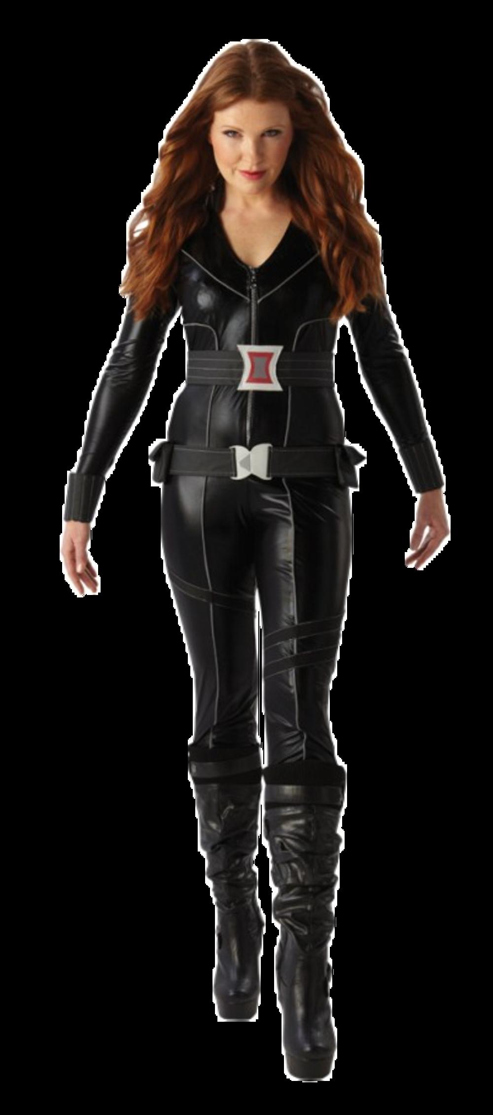 Black Widow Superhero Ladies Fancy Dress The Avengers Halloween Womens Costume