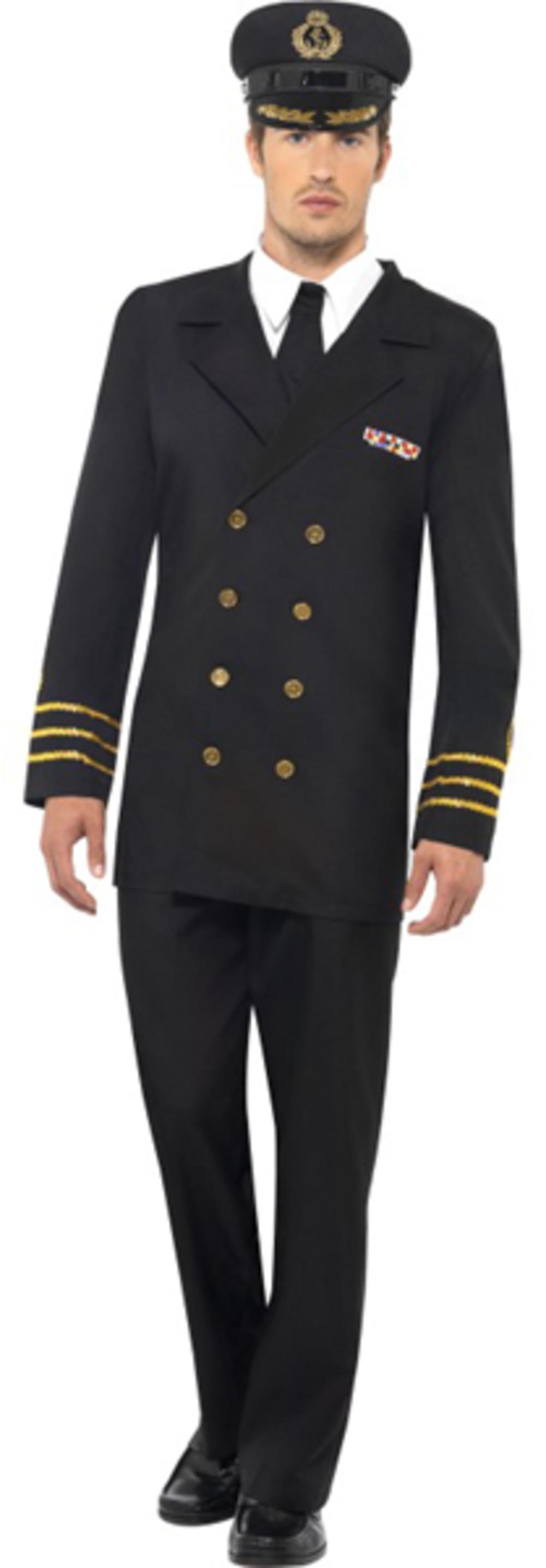 Black Navy Officer Costume
