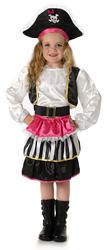 Pirate Sweetie Girls Fancy Dress Buccaneer World Book Day Childrens Kids Costume