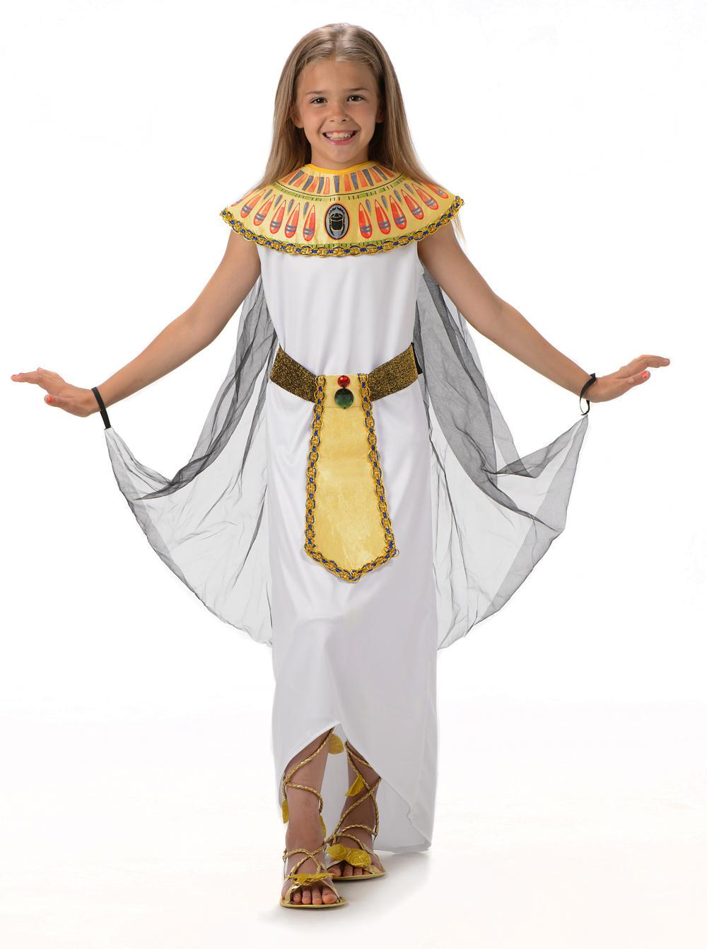 Egyptian Queen Cleopatra Girls Fancy Dress Ancient Empress Kids Childs Costume