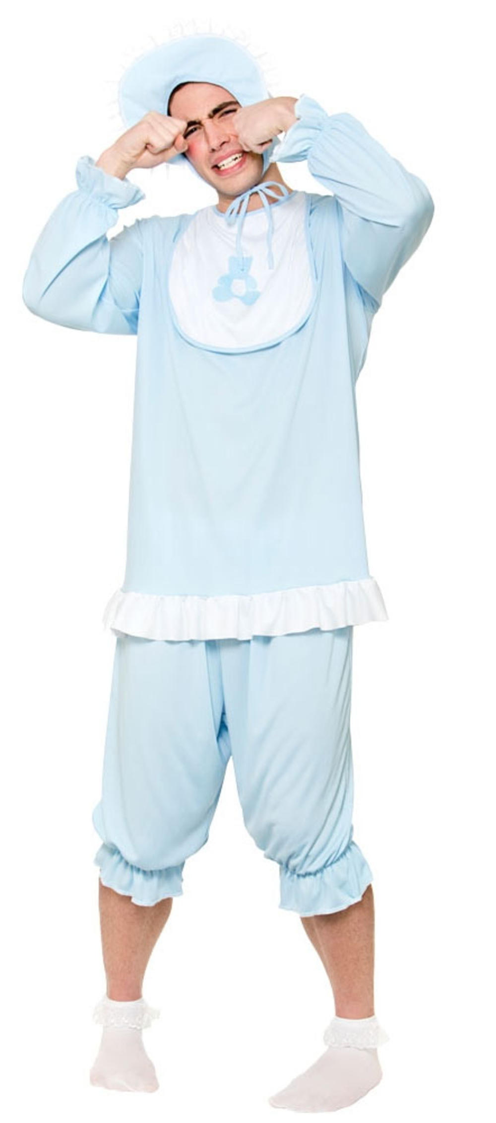 Blue Big Cry Baby Adults Fancy Dress Fun Novelty Mens Babies Suit Costume Outfit
