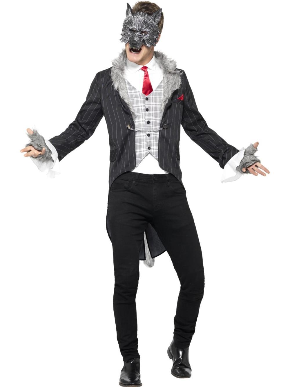 Big Bad Wolf Mens Fancy Dress Fairy Tale Horror Animal Adults Halloween Costume