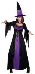 Spellbound Witch Ladies Halloween Fancy Dress Adults Womens Costume Outfit New