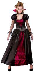 Deluxe Vampire Queen 6-28 Ladies Halloween Fancy Dress Womens Vampiress Costume