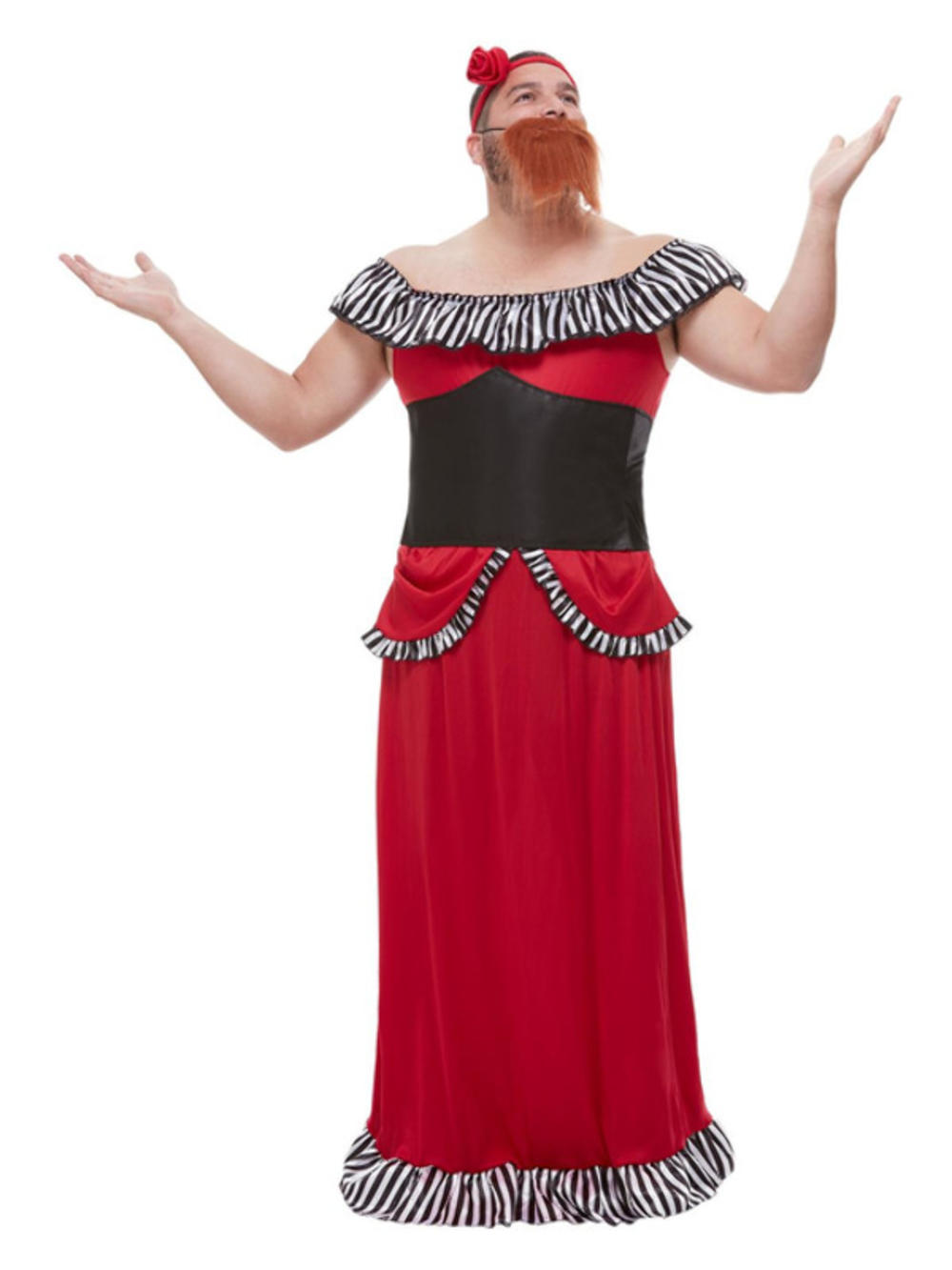 Bearded Lady Mens Fancy Dress Greatest Showman Circus Act Adults Costume Outfit