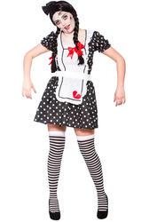 Broken Doll Ladies Halloween Fancy Dress Womens Ragdoll Adults Zombie Costume