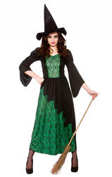 Sorcerous Witch Ladies Fancy Dress Halloween Party Womens Adult Costume Outfit