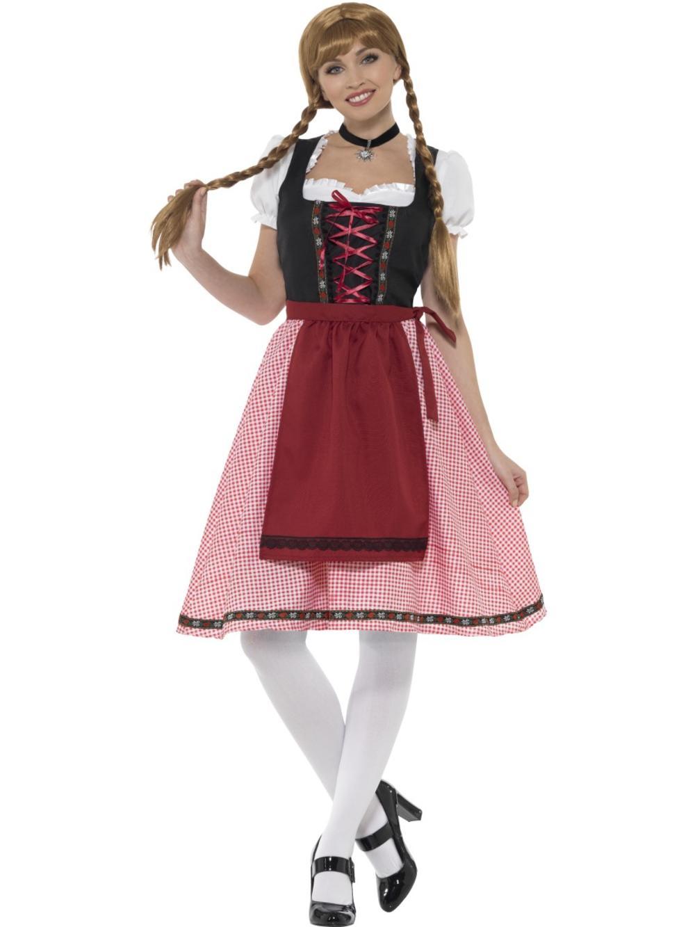 Bavarian Tavern Maid Ladies Fancy Dress German Beer Oktoberfest Adults Costume