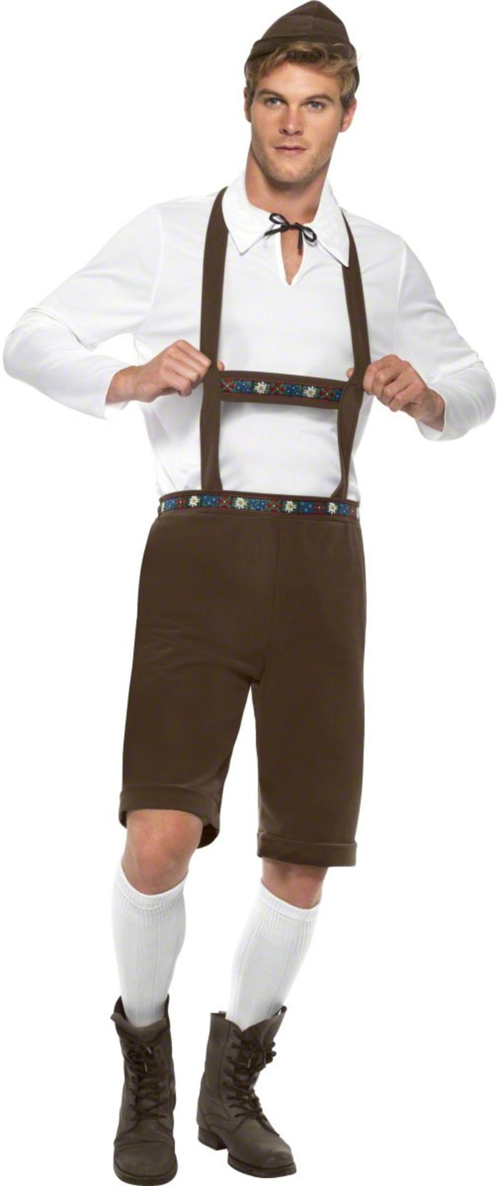 Bavarian Beer Man Oktoberfest Fancy Dress Mens National Dress Costume Outfit New