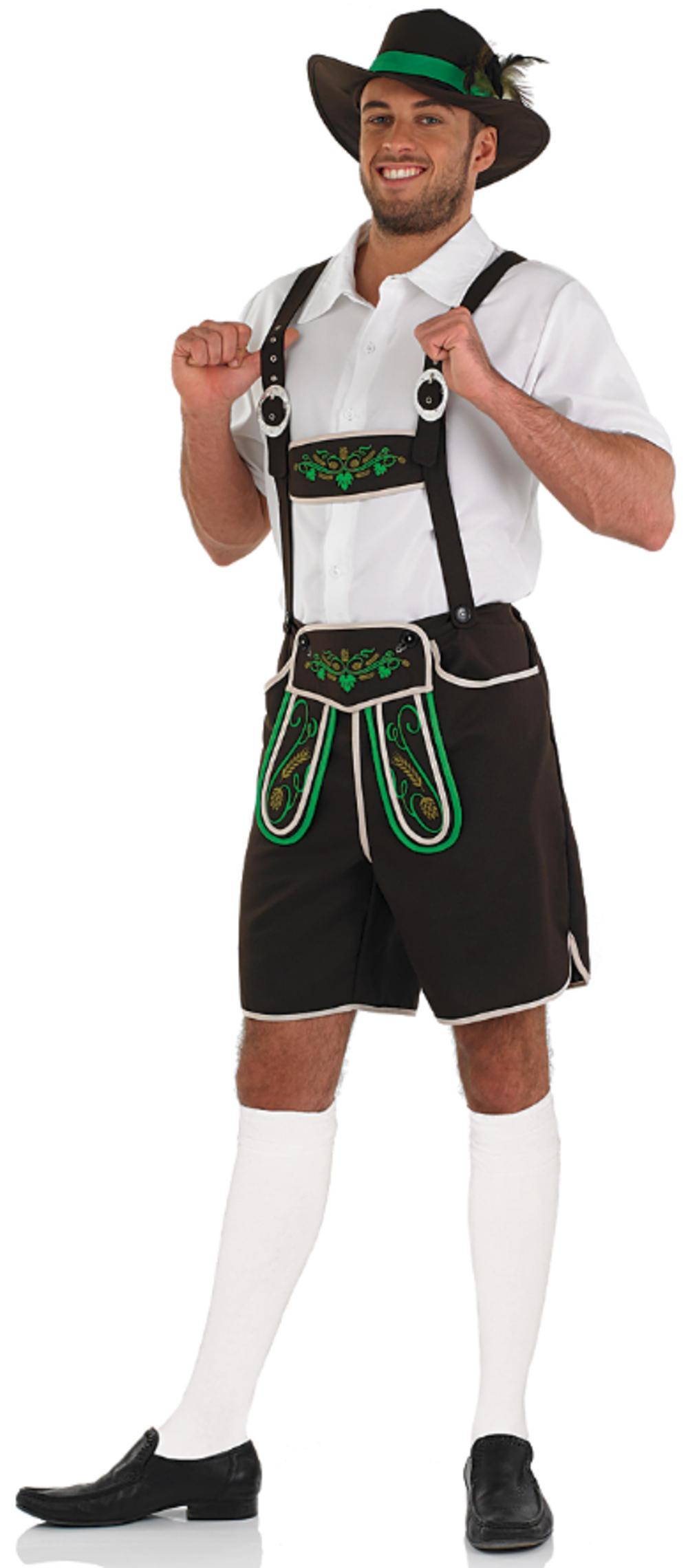Bavarian Beer Man Mens Fancy Dress German Oktoberfest Lederhosen Adults Costume