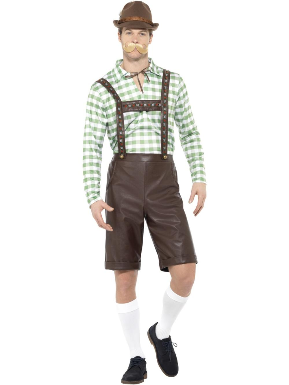 Bavarian Beer Man Mens Fancy Dress Lederhosen German Oktoberfest Adults Costume