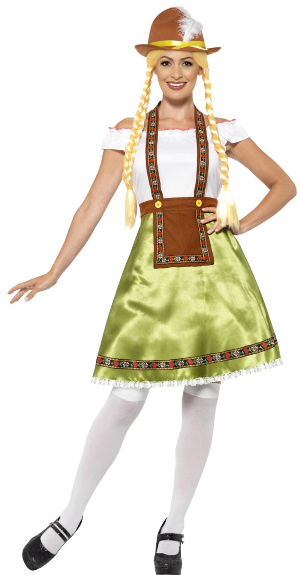 Bavarian Beer Maid Ladies Fancy Dress Oktoberfest German Adults Ladies Costume