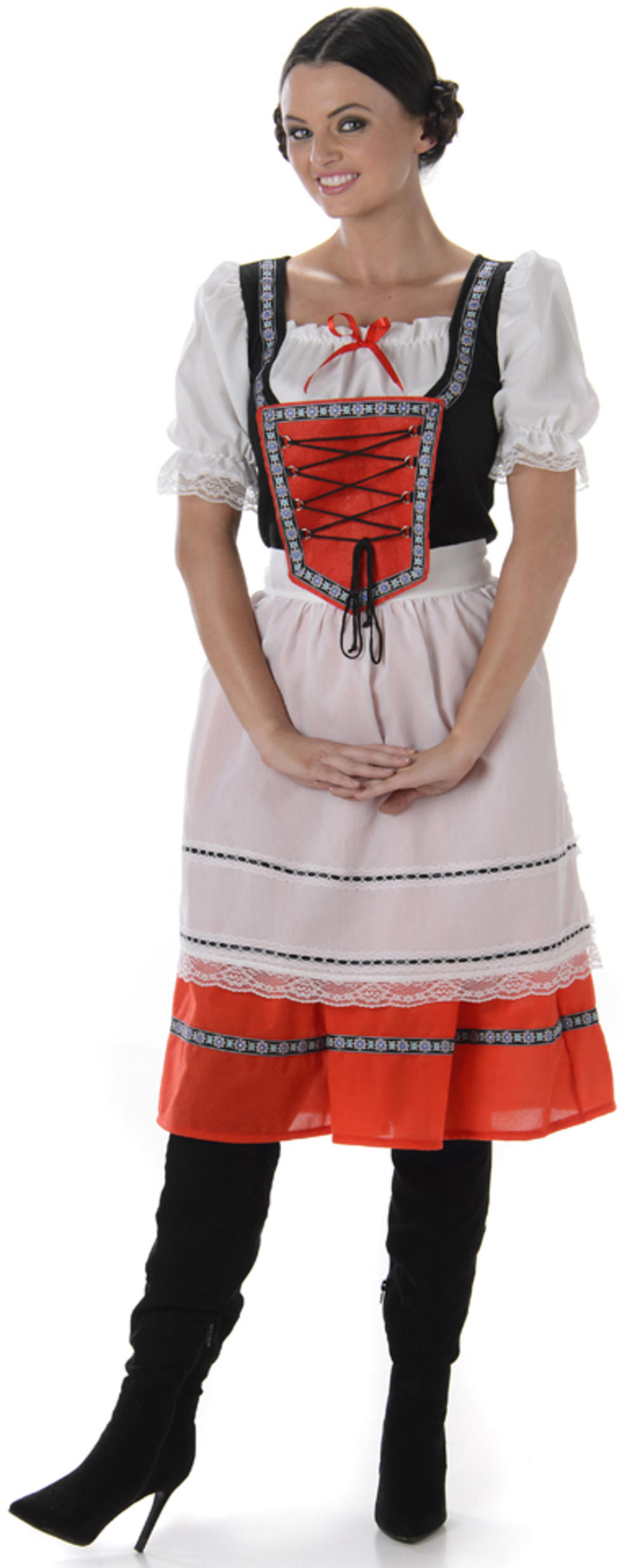 Heidi Bavarian Girl Ladies Fancy Dress Oktoberfest Beer Maid Women Adult Costume
