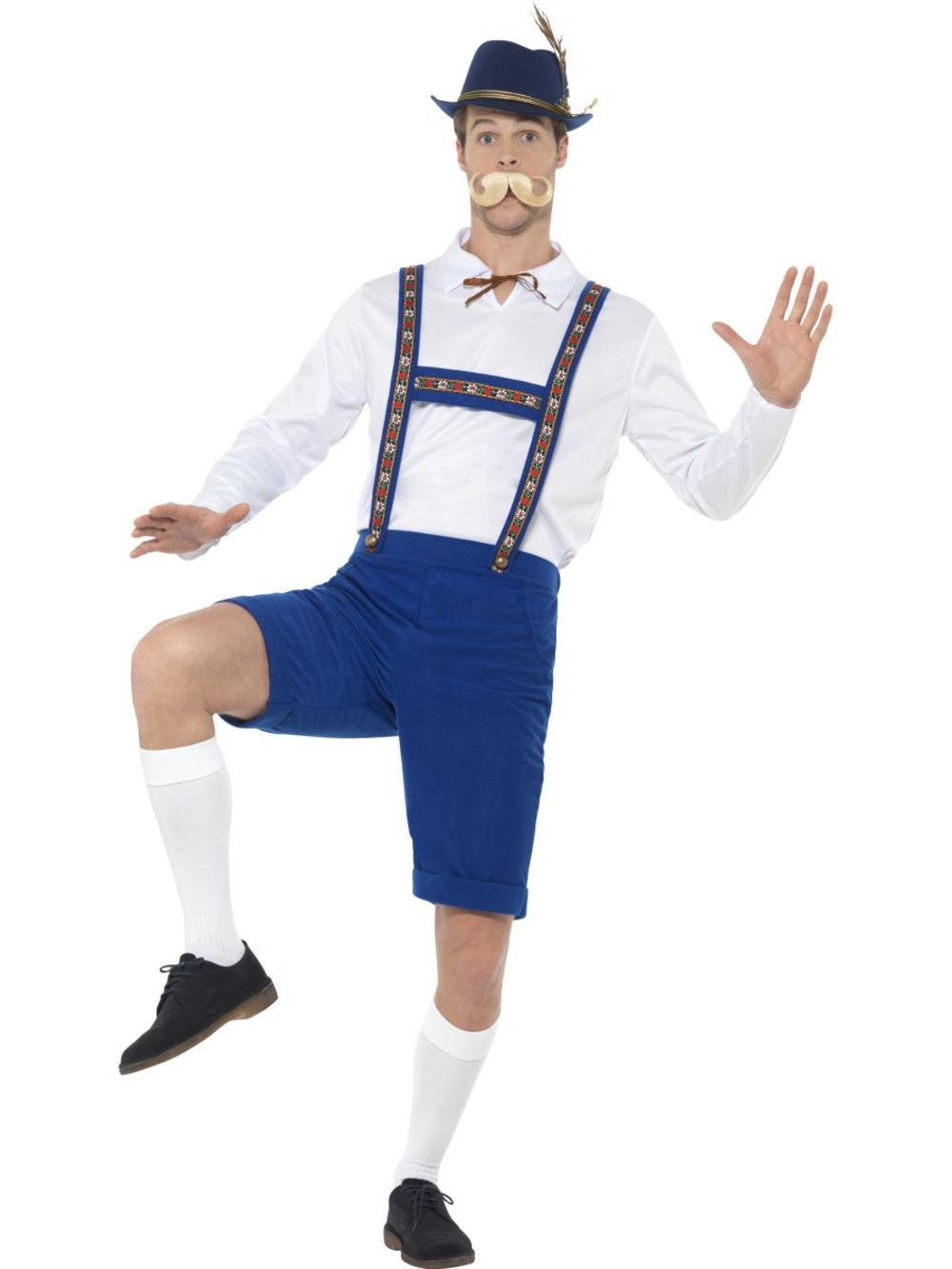 Bavarian Mens Fancy Dress German Beer Man Oktoberfest Lederhosen Adults Costume