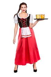 Bavarian Beer Wench Ladies Fancy Dress Oktoberfest German Womens Adults Costume