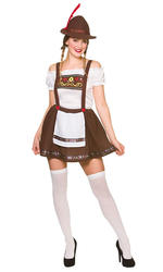 Bavarian Beer Maid Ladies Fancy Dress German Oktoberfest Womens Adult Costume