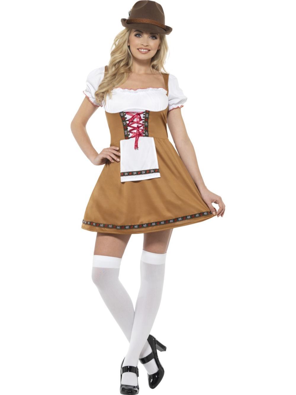 Bavarian Beer Maid Sexy Ladies Fancy Dress Oktoberfest Bavarian Womens Costume