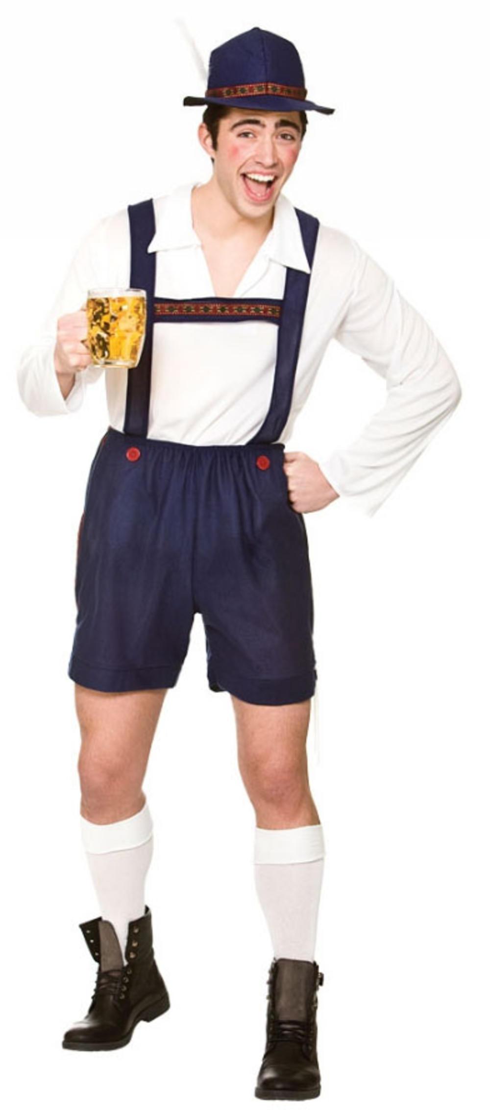 Bavarian Beer Guy Mens Fancy Dress Oktoberfest German Adults Lederhosen Costume