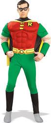 Robin Muscle Chest Mens Fancy Dress Batman Movie Superhero Adult Costume Outfit