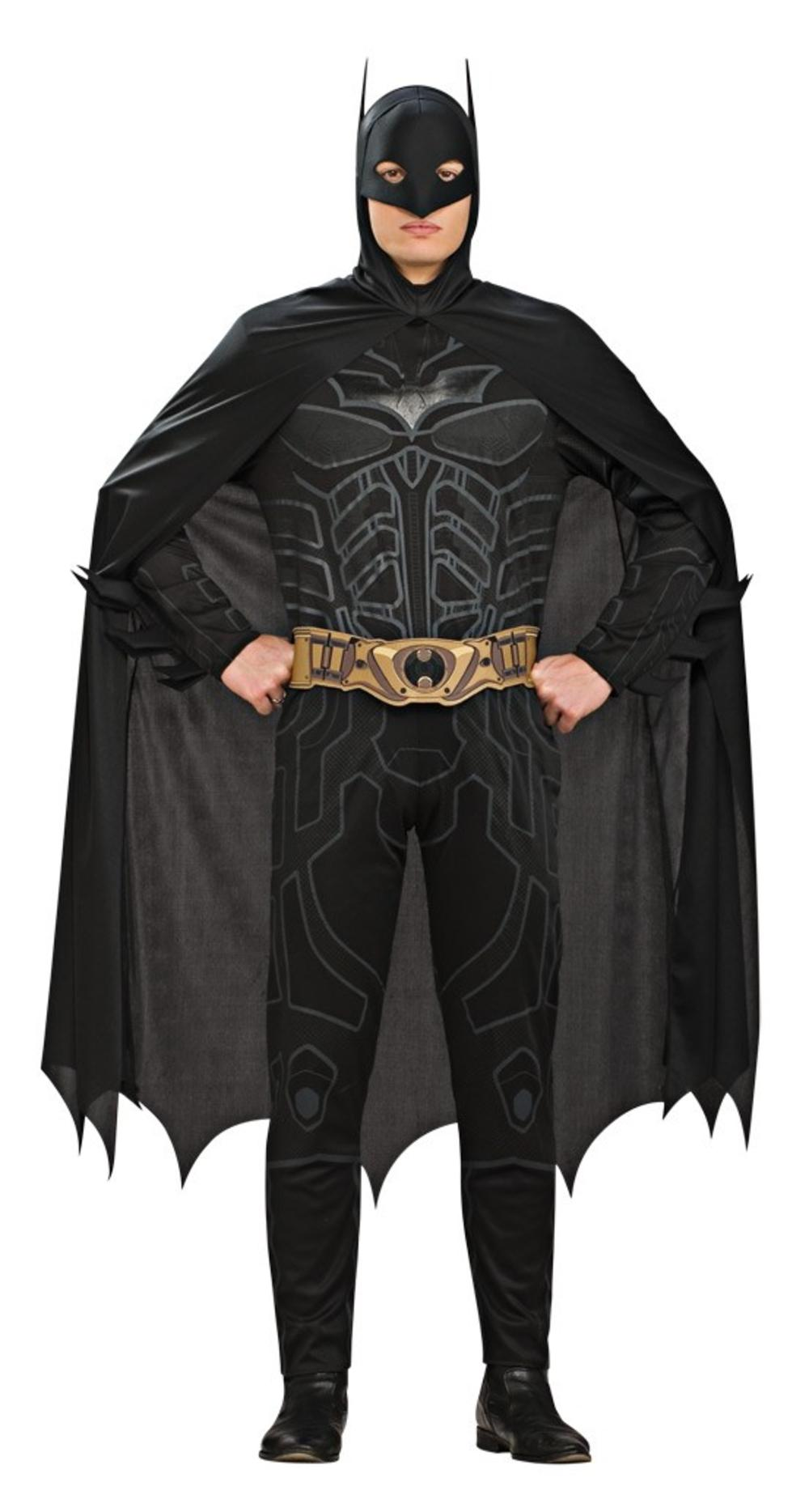 Batman Dark Knight Fancy Dress Mens Superhero Adults Costume Movie Outfit + Mask