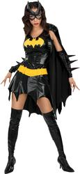 Batgirl Fancy Dress Ladies Superhero Halloween Costume Outfit + Mask UK 6-16