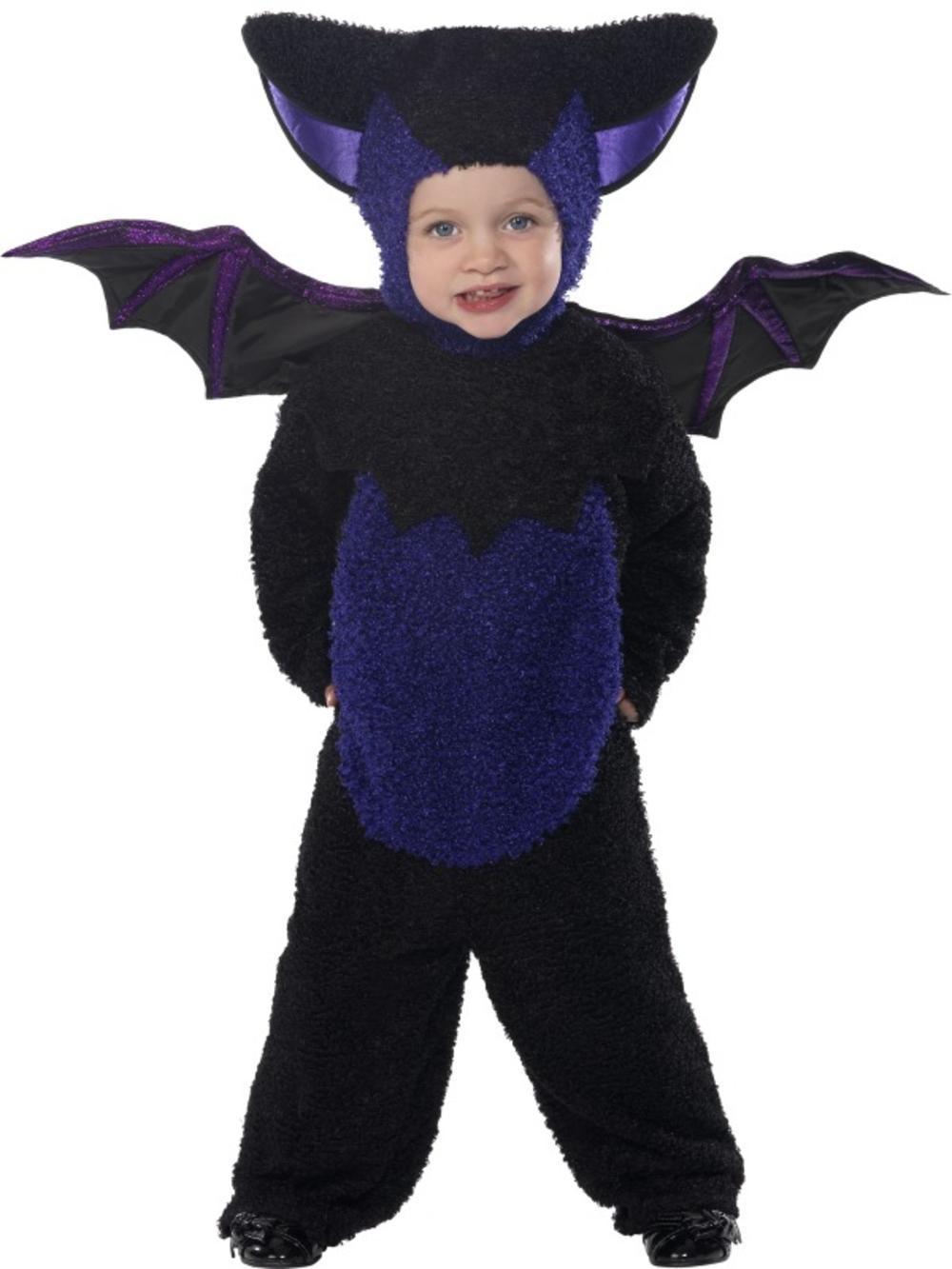 Baby Bat Kids Fancy Dress Spooky Halloween Animal Boys Girls Toddlers Costume