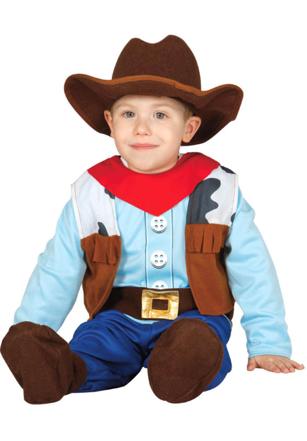 Baby Cowboy Boys Fancy Dress Wild West Western Kids Toddlers Costume Outfit