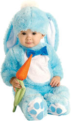 Blue Baby Rabbit Child Fancy Dress Kids Easter Bunny Animal Costume 0-18 Months