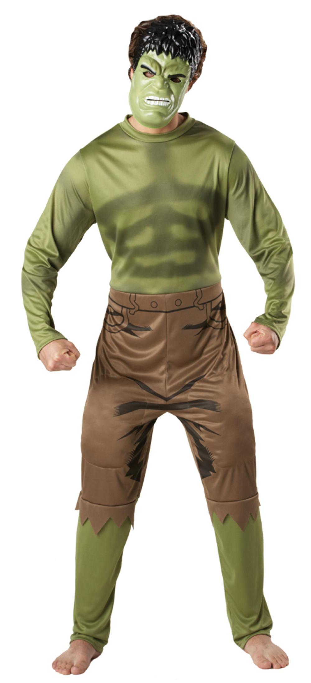 The Incredible Hulk Mens Fancy Dress Avengers Superhero Adult Costume + Mask