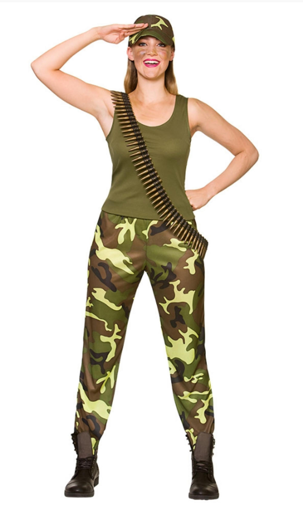 Army Girl Ladies Costume Military Sergeant Wartime Soldier Womens Adults Costume
