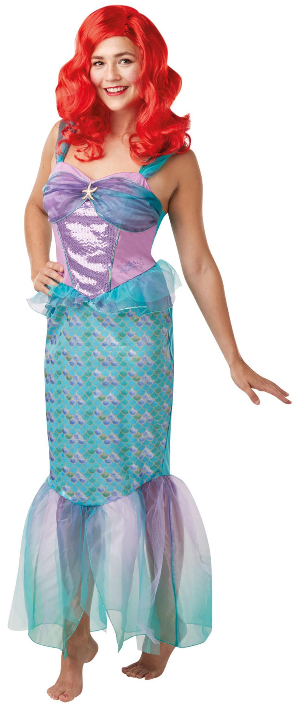 Ariel Ladies Fancy Dress Little Mermaid Disney Princess Adult Fairy Tale Costume